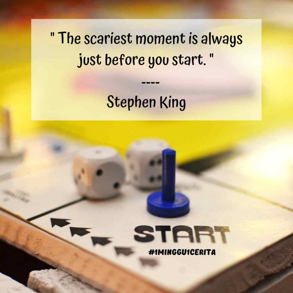 the scariest moment is always to start